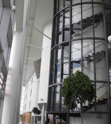 Installation of new atrium stair case and balustrades At New Motherwell College, North Lanarkshire